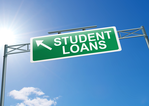 Student Loan Street Sign