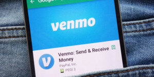 image of smartphone with the Venmo app on the screen