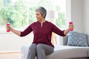 Older woman excercising