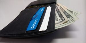image of wallet with money